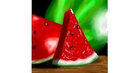 Watermelon drawing by Joze