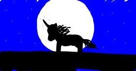 Unicorn drawing by Emma