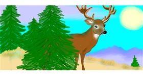 Drawing of Deer by Debidolittle