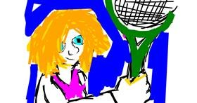 Tennis drawing by That One Llama