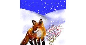 Drawing of Fox by Leah
