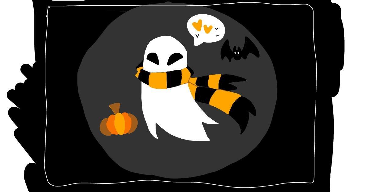 Ghost drawing by bones