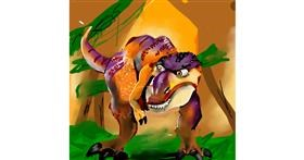 T-rex dinosaur drawing by Rose rocket