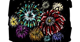 Fireworks drawing by Lsk