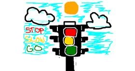 Traffic light drawing by MPK