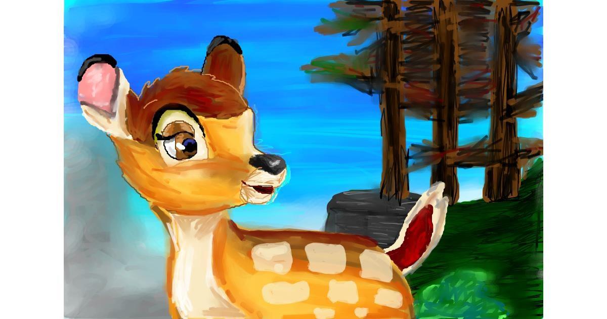 Drawing of Bambi by Soaring Sunshine