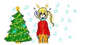 Christmas tree drawing by aaaaaaaaaaaa