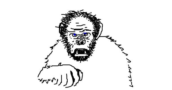 Monkey drawing by Jared