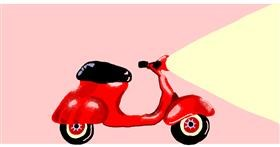 Drawing of Motorbike by Helena