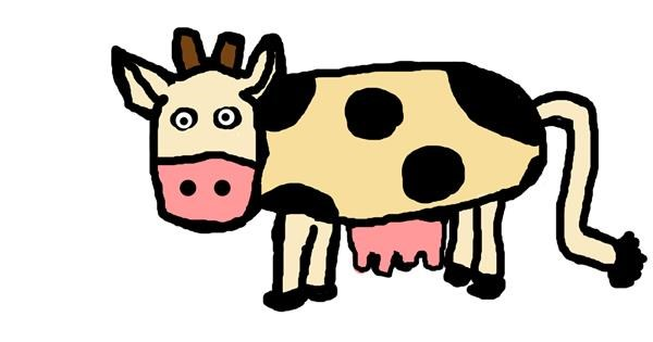 Cow drawing by paankhi shah