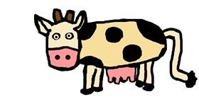Drawing of Cow by paankhi shah