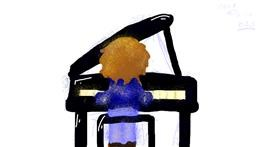 Piano drawing by cookie karr