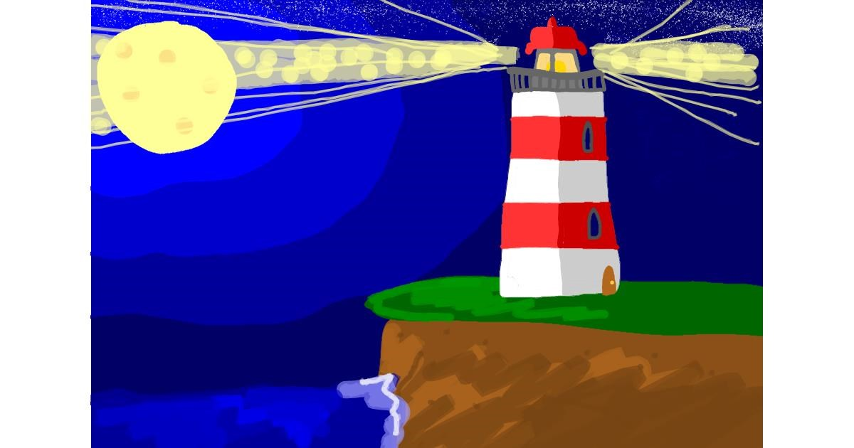 Drawing of Lighthouse by penguinoloo