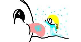 Snowflake drawing by Rainbow slushie
