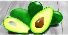 Drawing of Avocado by Pinky