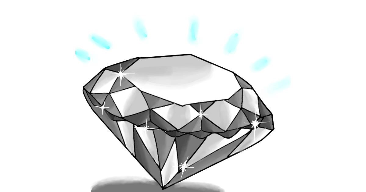 Diamond drawing by Holy Kirbo