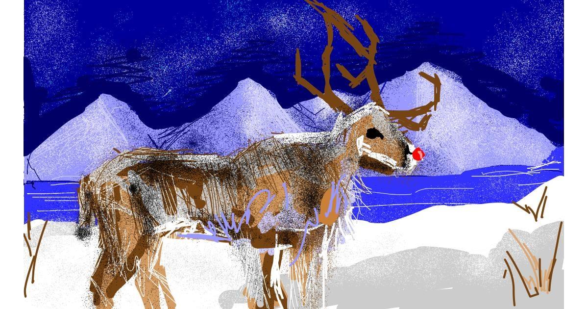 Drawing of Reindeer by Ghost