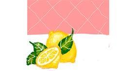 Lemon drawing by Cherri