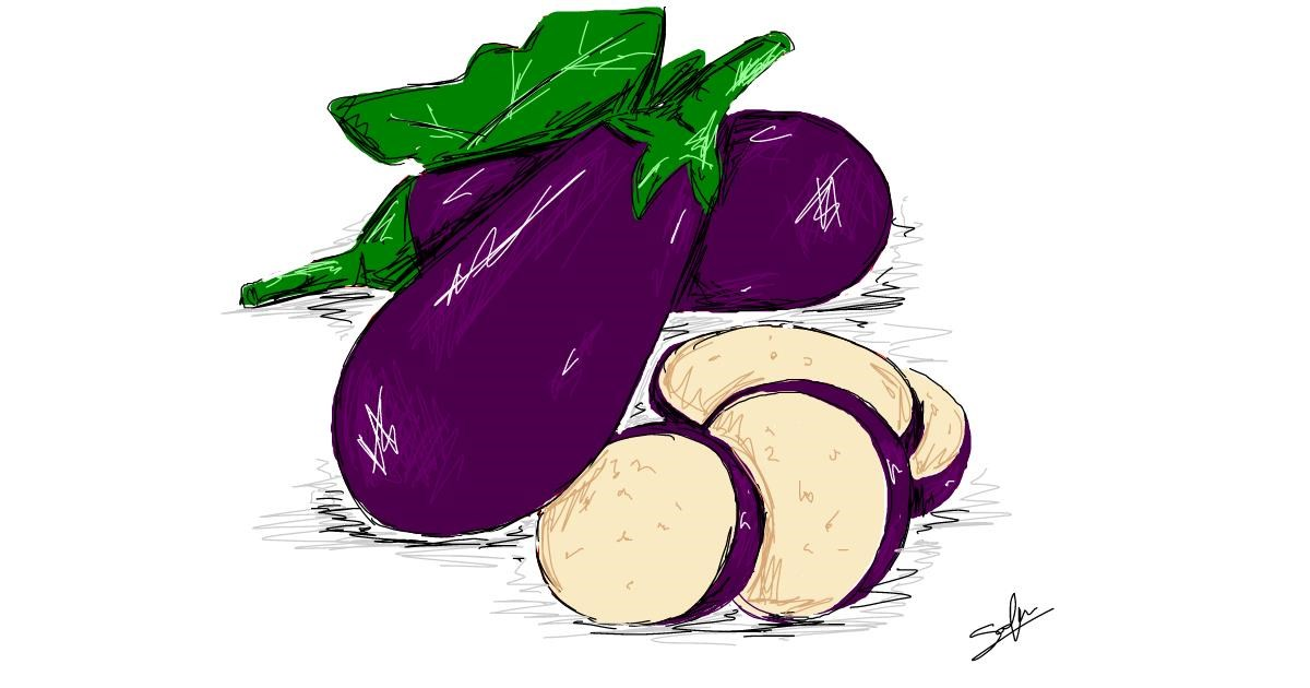 Eggplant drawing by Sophie_draw24