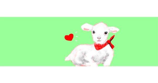 Sheep drawing by Redd_Pandaii