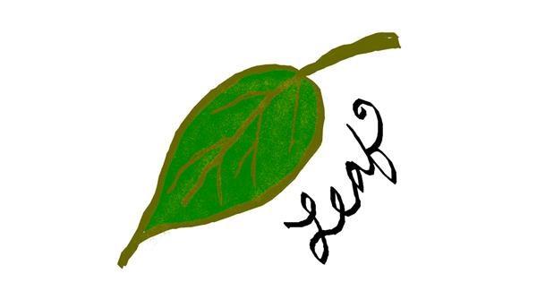 Leaf drawing by Lovelybones