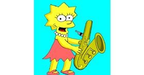 Drawing of Lisa Simpson by Lou