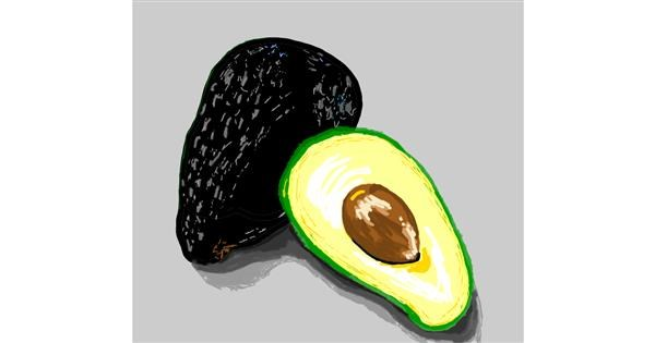 Avocado drawing by Geo-Pebbles