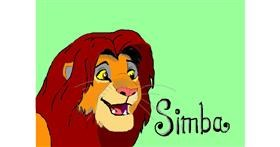 Simba (Lion King) drawing by Debidolittle