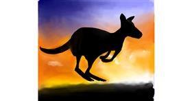 Kangaroo drawing by Emit