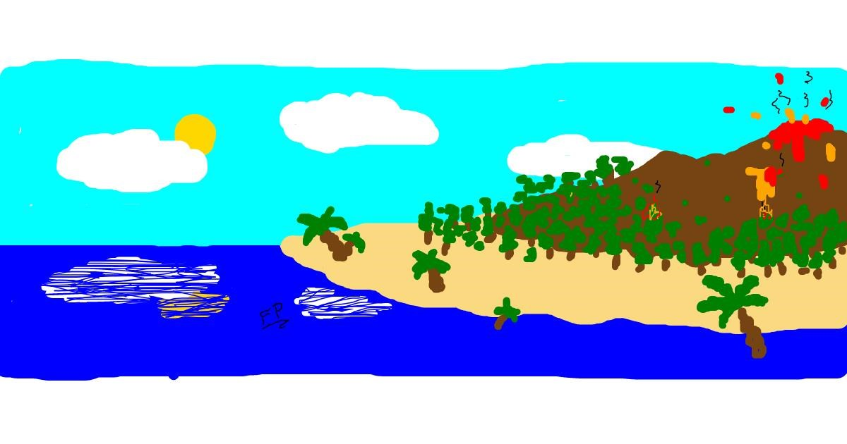 Island drawing by SANTA