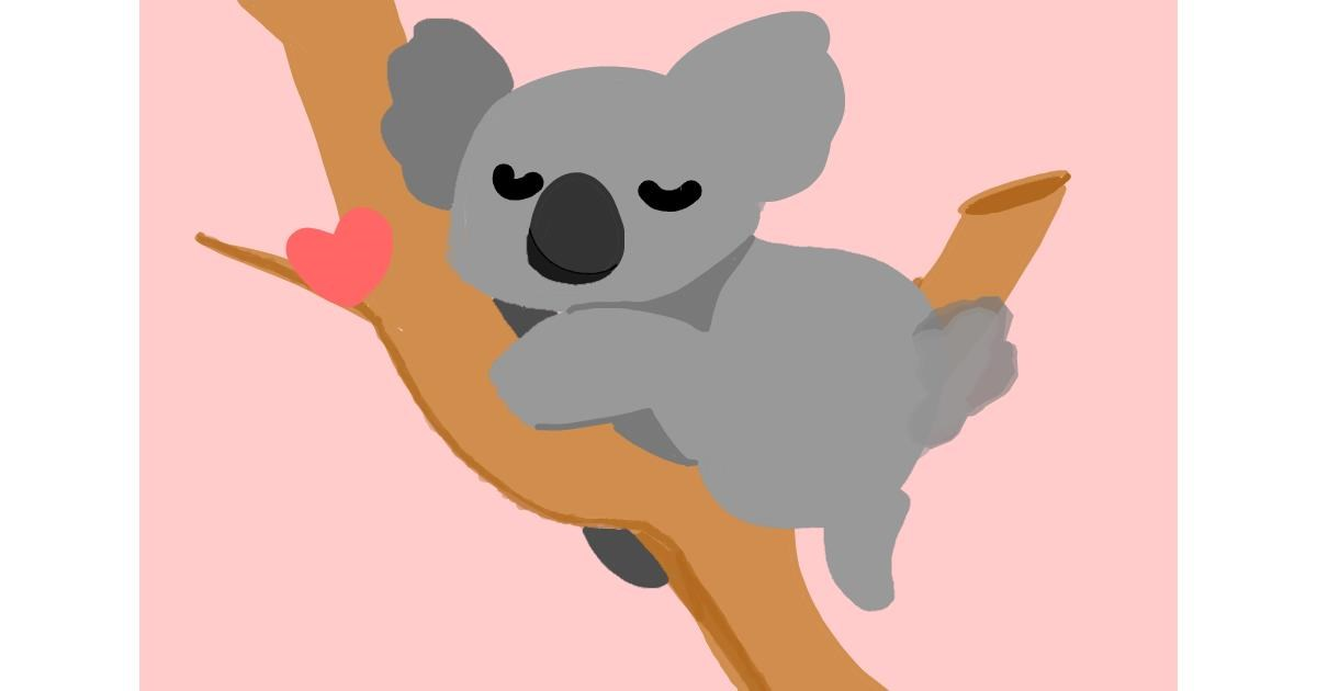 Drawing of Koala by Redd_Pandaii