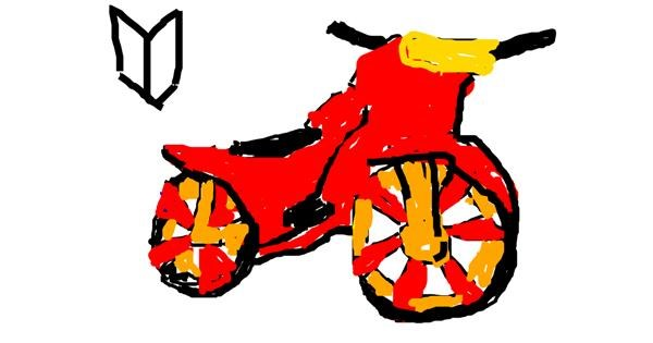 Motorbike drawing by alexis