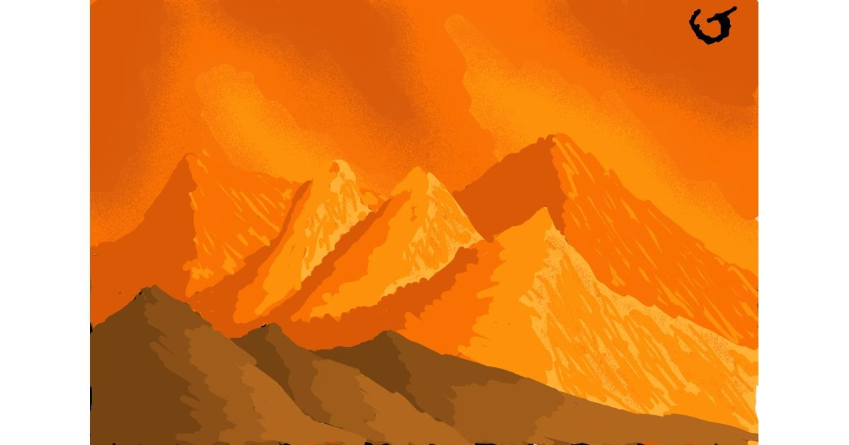 Drawing of Mountain by The536