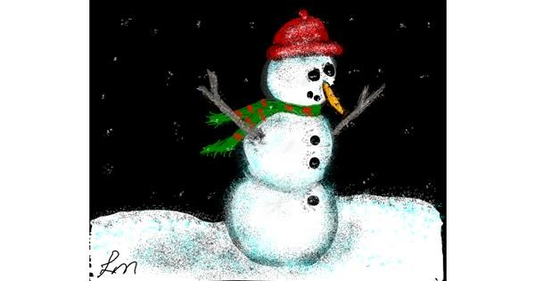 Snowman drawing by Nonuvyrbiznis