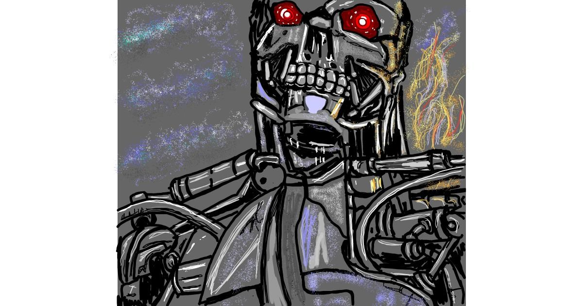 Drawing of Robot by Geo-Pebbles