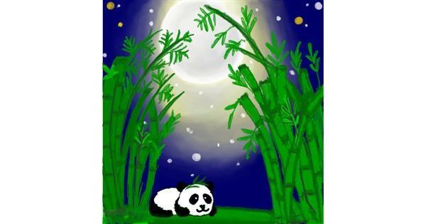 Bamboo drawing by DivyaJose