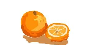 Orange drawing by Firsttry