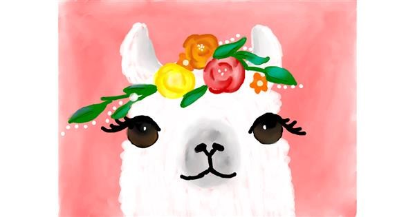 Llama drawing by Autumn