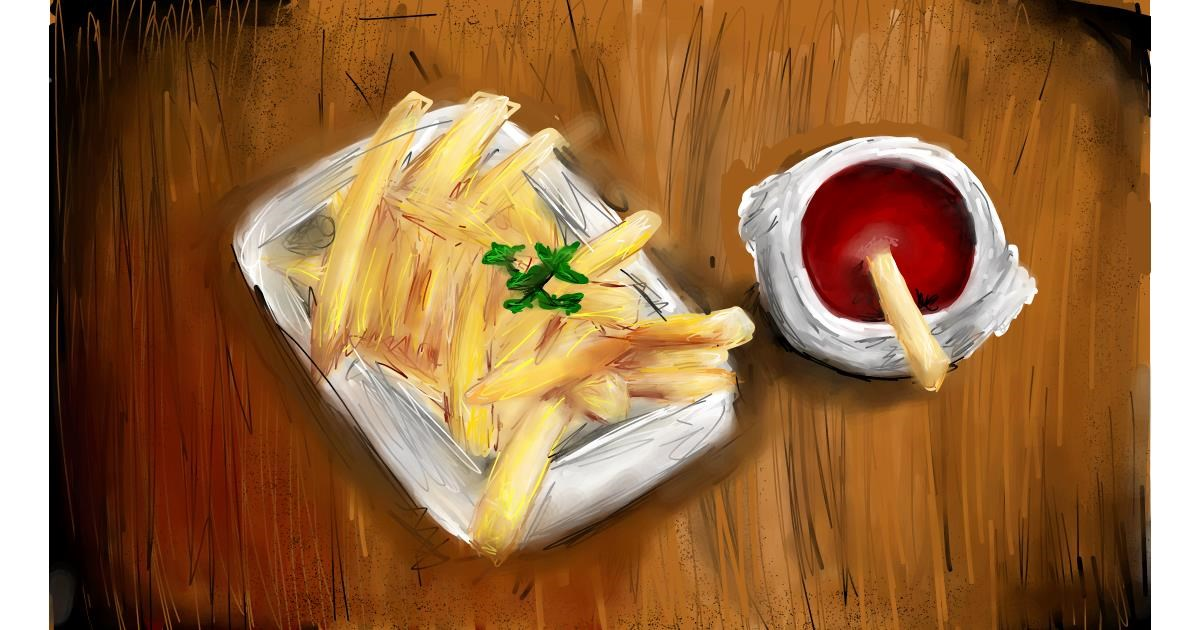 Drawing of French fries by Soaring Sunshine