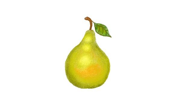 Pear drawing by tiny=)