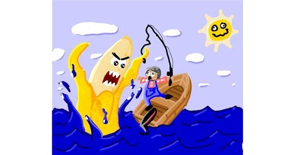 Banana drawing by Mari