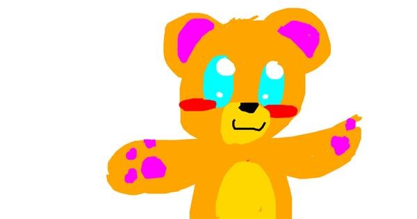 Bear drawing by Rosy