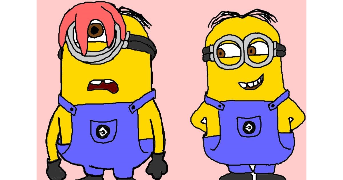 Minion drawing by InessaC
