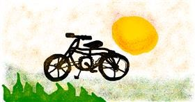 Bicycle drawing by Shaterstar