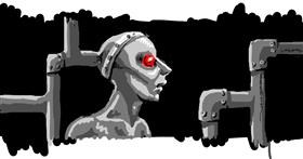 Robot drawing by nova