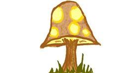 Drawing of Mushroom by Lovelybones