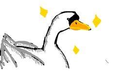 Swan drawing by the diaz guy