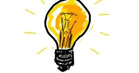 Light bulb drawing by Derp