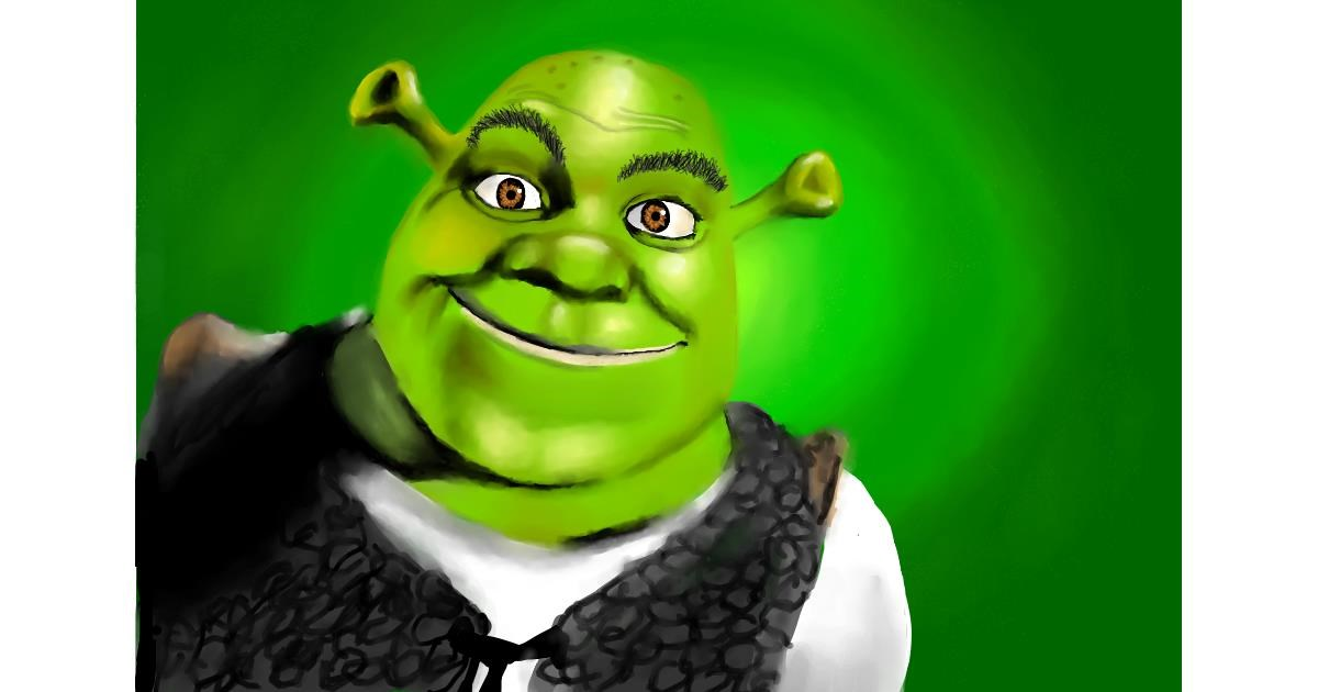 Drawing of Shrek by RadiouChka