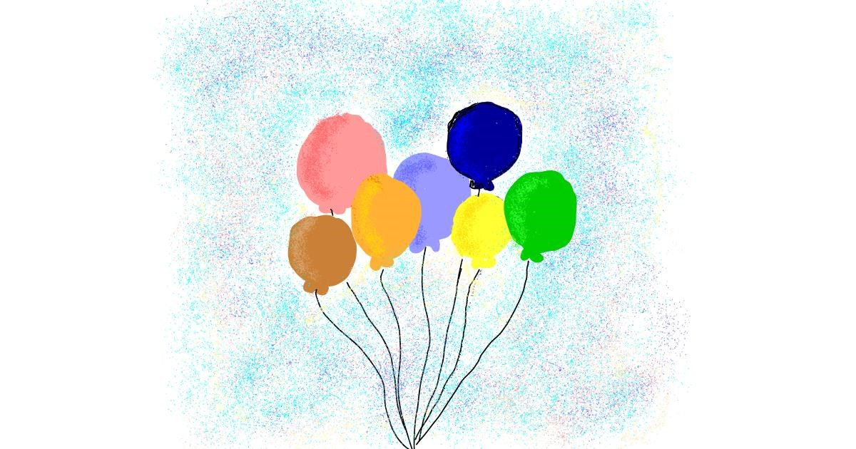 Drawing of Balloon by Lsk